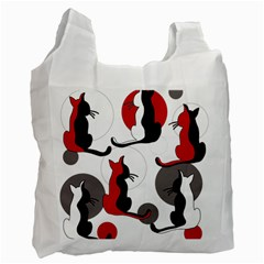 Elegant abstract cats  Recycle Bag (Two Side)