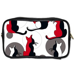Elegant abstract cats  Toiletries Bags