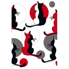 Elegant abstract cats  5.5  x 8.5  Notebooks
