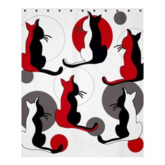 Elegant abstract cats  Shower Curtain 60  x 72  (Medium)