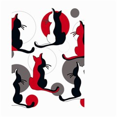 Elegant abstract cats  Small Garden Flag (Two Sides)