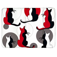 Elegant abstract cats  Samsung Galaxy Tab 7  P1000 Flip Case