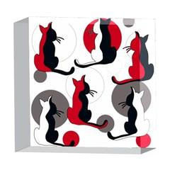 Elegant abstract cats  5  x 5  Acrylic Photo Blocks