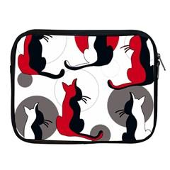 Elegant abstract cats  Apple iPad 2/3/4 Zipper Cases