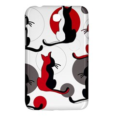 Elegant abstract cats  Samsung Galaxy Tab 3 (7 ) P3200 Hardshell Case