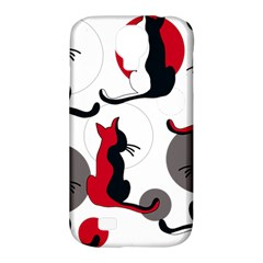 Elegant abstract cats  Samsung Galaxy S4 Classic Hardshell Case (PC+Silicone)