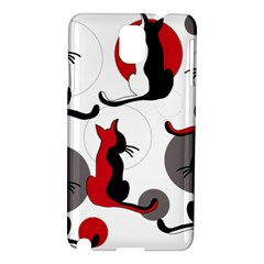 Elegant abstract cats  Samsung Galaxy Note 3 N9005 Hardshell Case