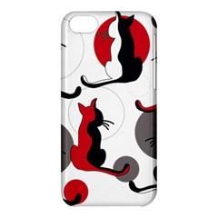 Elegant abstract cats  Apple iPhone 5C Hardshell Case
