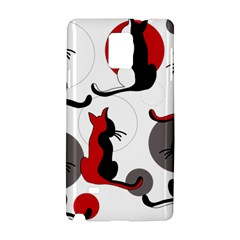Elegant abstract cats  Samsung Galaxy Note 4 Hardshell Case