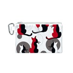 Elegant abstract cats  Canvas Cosmetic Bag (S) Front