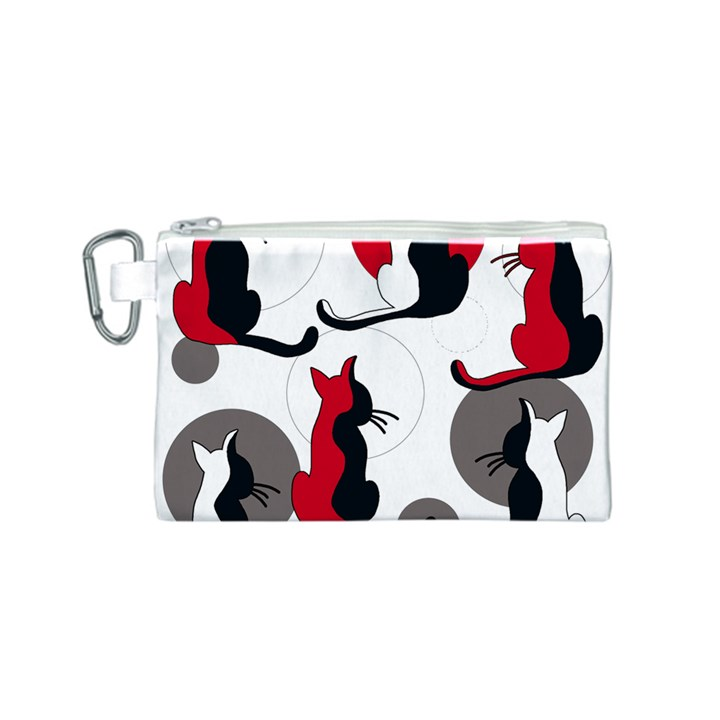 Elegant abstract cats  Canvas Cosmetic Bag (S)