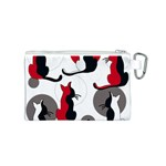 Elegant abstract cats  Canvas Cosmetic Bag (S) Back
