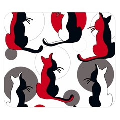 Elegant abstract cats  Double Sided Flano Blanket (Small)