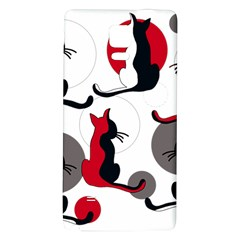 Elegant abstract cats  Galaxy Note 4 Back Case
