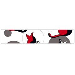 Elegant abstract cats  Flano Scarf (Large)