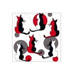 Elegant abstract cats  Satin Bandana Scarf