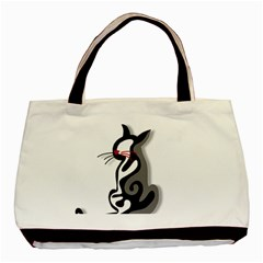 Elegant abstract cat  Basic Tote Bag (Two Sides)