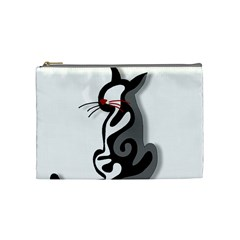 Elegant abstract cat  Cosmetic Bag (Medium)