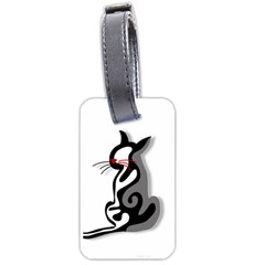Elegant abstract cat  Luggage Tags (Two Sides)