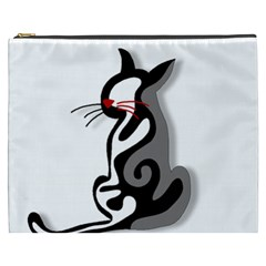 Elegant abstract cat  Cosmetic Bag (XXXL)