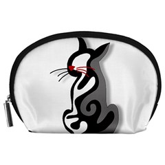 Elegant abstract cat  Accessory Pouches (Large)