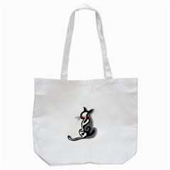 Elegant abstract cat  Tote Bag (White)