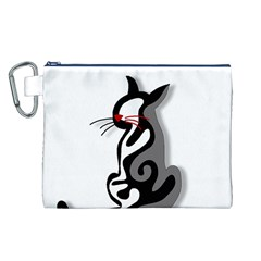 Elegant abstract cat  Canvas Cosmetic Bag (L)