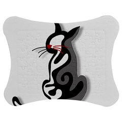 Elegant abstract cat  Jigsaw Puzzle Photo Stand (Bow)