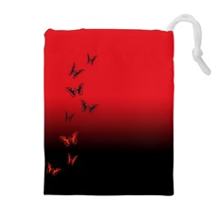 LEPIDOPTERAN Drawstring Pouches (Extra Large)