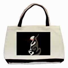 Gray elegant cat Basic Tote Bag