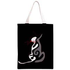 Gray elegant cat Classic Light Tote Bag