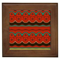 Orange Black and Blue Pattern Framed Tiles