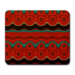 Orange Black and Blue Pattern Large Mousepads