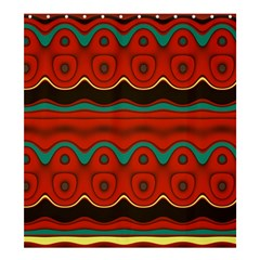 Orange Black and Blue Pattern Shower Curtain 66  x 72  (Large)