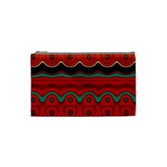 Orange Black and Blue Pattern Cosmetic Bag (Small)