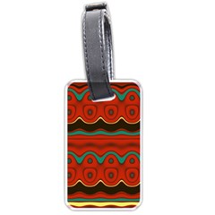 Orange Black and Blue Pattern Luggage Tags (Two Sides)