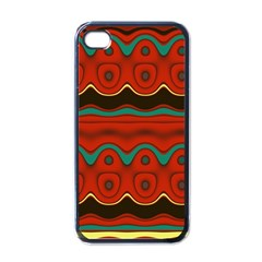 Orange Black And Blue Pattern Apple Iphone 4 Case (black)