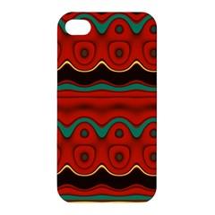 Orange Black and Blue Pattern Apple iPhone 4/4S Hardshell Case