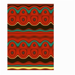 Orange Black and Blue Pattern Large Garden Flag (Two Sides)
