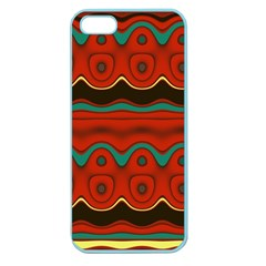 Orange Black and Blue Pattern Apple Seamless iPhone 5 Case (Color)