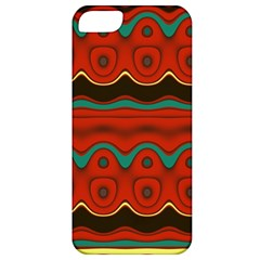 Orange Black and Blue Pattern Apple iPhone 5 Classic Hardshell Case