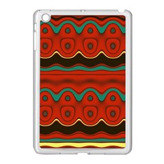 Orange Black and Blue Pattern Apple iPad Mini Case (White)