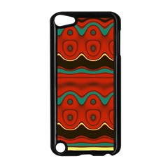 Orange Black and Blue Pattern Apple iPod Touch 5 Case (Black)