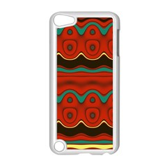 Orange Black and Blue Pattern Apple iPod Touch 5 Case (White)