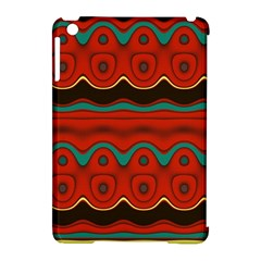 Orange Black And Blue Pattern Apple Ipad Mini Hardshell Case (compatible With Smart Cover)