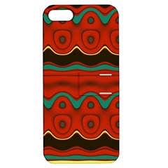 Orange Black and Blue Pattern Apple iPhone 5 Hardshell Case with Stand
