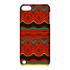 Orange Black and Blue Pattern Apple iPod Touch 5 Hardshell Case with Stand