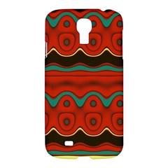 Orange Black and Blue Pattern Samsung Galaxy S4 I9500/I9505 Hardshell Case