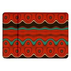 Orange Black And Blue Pattern Samsung Galaxy Tab 8 9  P7300 Flip Case