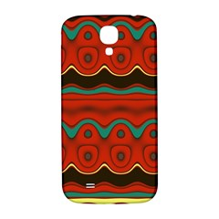 Orange Black and Blue Pattern Samsung Galaxy S4 I9500/I9505  Hardshell Back Case
